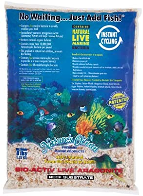 Nature's Ocean - Aragonite Live Reef Substrate - 1- 4 mm